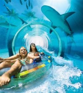 тоннель с акулами в Атлантисе